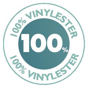 Zwembad uit 100% vinylester