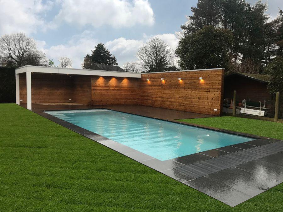 Poolhouse thermowood&Trespa